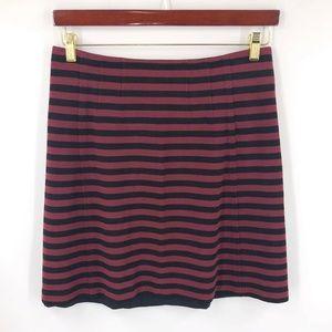 Banana Republic A Line Skirt Size 6 Red Black